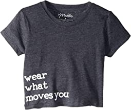 "Graphic Crop Tee ""Wear What Moves You"" (Big Kids)"