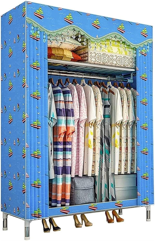Home Clothes Wardrobe Storage Closet Rack Fabric Portab Many popular brands Dallas Mall