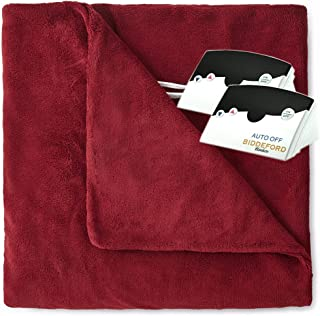 Pure Warmth MicroPlush Electric Heated Blanket King Claret