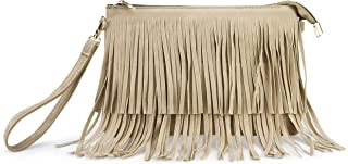 Hoxis Fringe Cross Body Bag Wristlet Womens Small Shoulder Bag