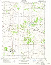 YellowMaps Elburn IL topo map, 1:24000 Scale, 7.5 X 7.5 Minute, Historical, 1964, Updated 1965, 26.9 x 22 in
