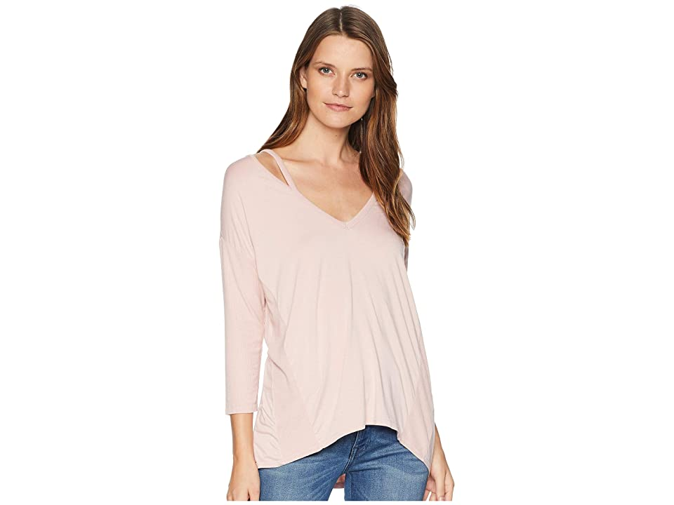 Three Dots Ellie High Low Tunic (Pink Pearl) Women