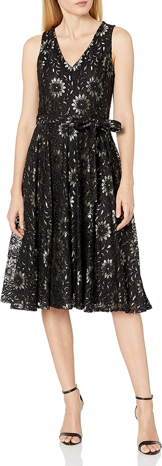 Tommy Hilfiger Women's Fit and Flare Midi Dress