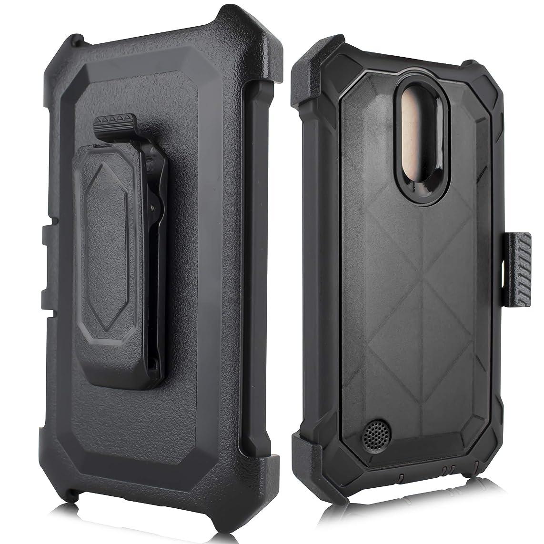 for LG K30 Case Holster Belt Clip, Kick Stand Built in Screen Shockproof Cover for LG K30 / LG Premier Pro/LG K10 2018 Phone (Black)
