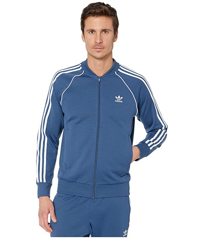 60s 70s Men's Jackets & Sweaters adidas Originals Superstar Track Top Night Marine Mens Sweatshirt $79.95 AT vintagedancer.com