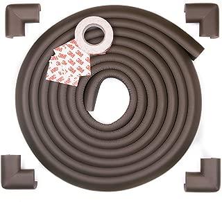 Edge Armor - 16.4 Feet of Edge Guards & 4 Pre-Taped Corner Protectors Premium Furniture Corner Safety Bumpers - Chocolate Brown