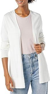 Amazon Essentials Cardigan léger Ouvert sur Le Devant Femme