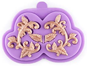 Tasty Molds Curlicues Scroll Flourish Fondant Silicone Mold High Definition Quality Cupcake DIY Birthday Topper Cake Border Decoration Wedding Party Tool for Sugarcraft, Polymer Clay, Crafting Project