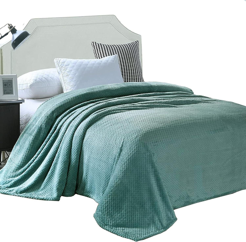 Exclusivo Sales Mezcla Waffle Textured Soft Queen Fleece Blanket Size 1 year warranty