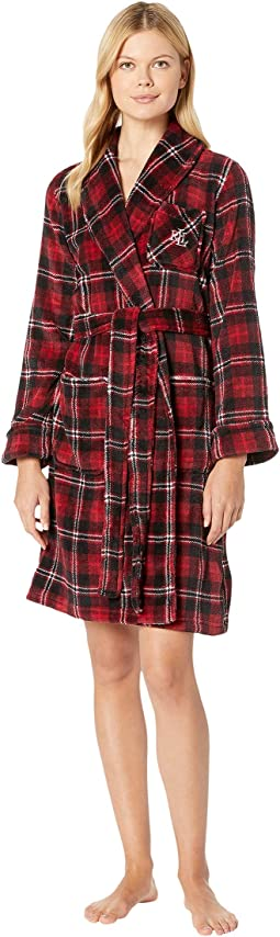 So Soft Short Shawl Collar Robe