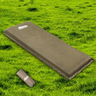Weisshorn Self Inflatable Sleeping Pads Single/Double Camp Sleeping Mat Air Inflating 10CM-Thick Rollable Mattress for Cam...