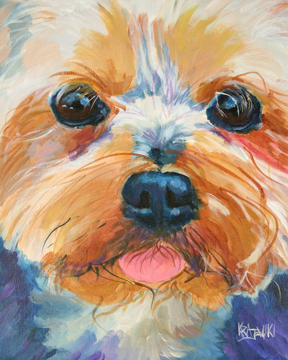 Yorkshire 5 ☆ very popular Terrier 25% OFF Yorkie Art Gifts From Origina Print