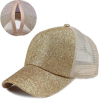 e66da9aea8 Kekebag Adjustable Ponytail Baseball Cap Mesh Tracker Hats for Women