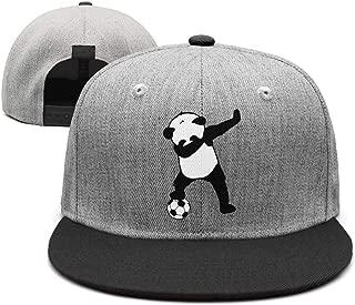 Funny Panda Dabbing Soccer Unisex Vintage Hip hop Trucker Cap Fitted Snapback hat Sport Cap One Size