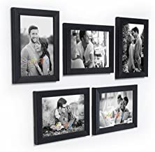 Art Street Unite Set of 5 Individual Photo Frame/Wall Hanging for Home Décor - Black