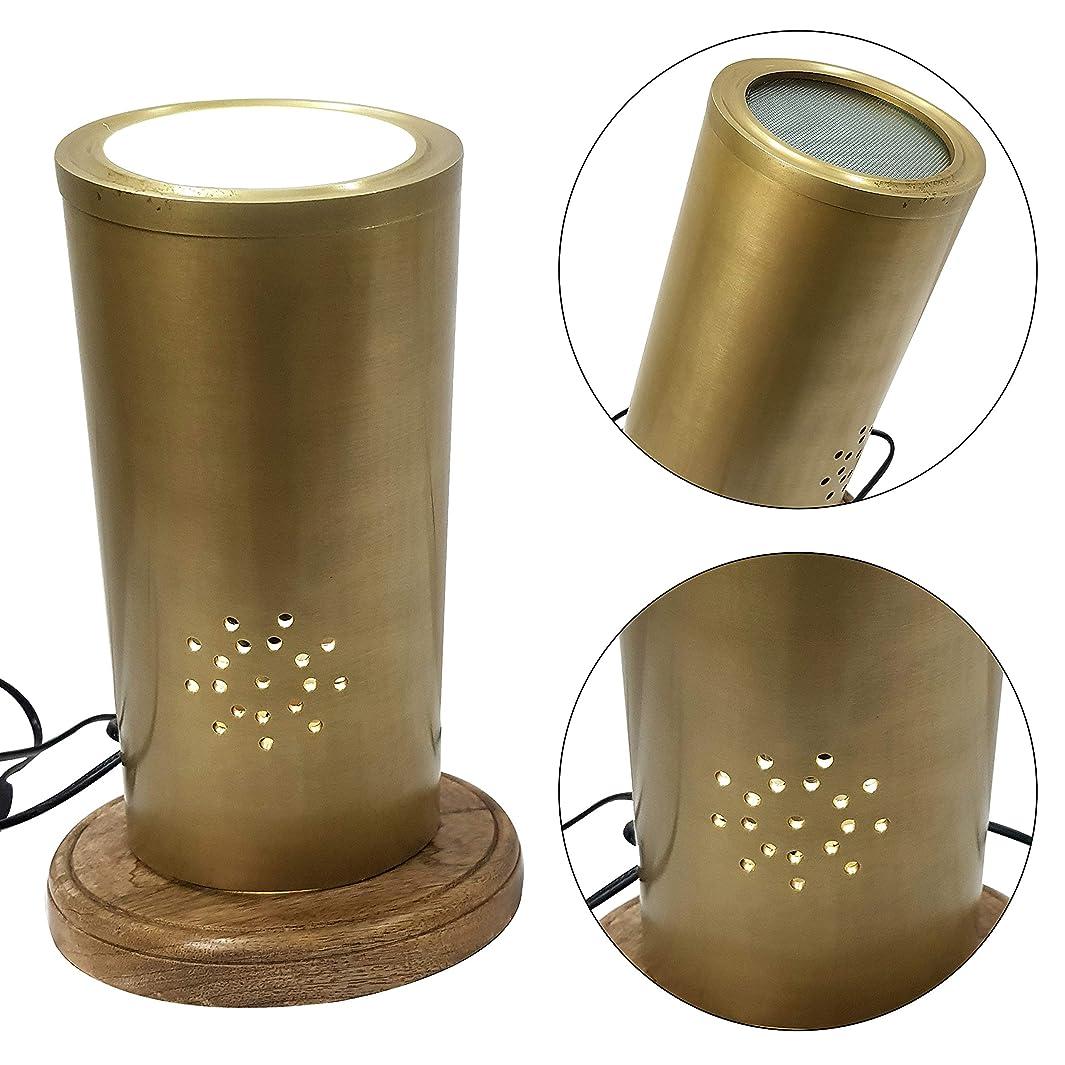抵抗する枝狂信者デザイナーモダン円柱型真鍮テーブルランプ コンテンポラリーラグジュアリーアンティークデスクランプ
