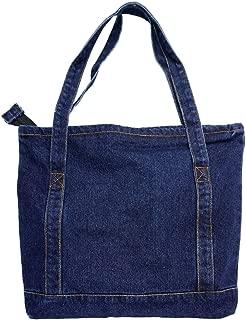 Casual Denim Shoulder Bags,Classic Canvas Bag,Denim Tote Shoulder Handbag,Shopping School Travel Pockets