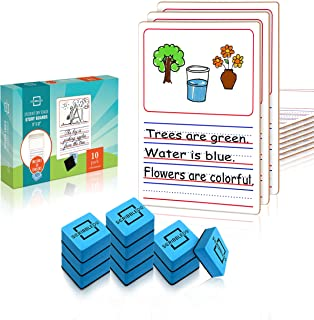 """10 Pack Dry Erase Story Picture Lap White Boards 9""""X12"""" l Drawing Spelling Sentences and More (Double Sided Mini Whiteboar..."""