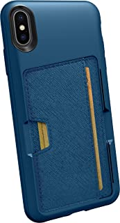 Smartish iPhone Xs Max Wallet Case - Wallet Slayer Vol. 2 [Slim Protective Kickstand] Credit Card Holder for Apple iPhone 10S Max (Silk) - Blues on The Green