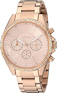 Fossil Womens Modern Courier Stainless Steel Chronograph Dress Quartz Watch