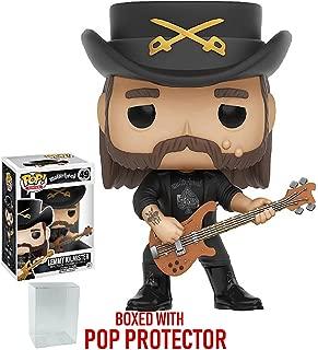 :Funko Pop! Rocks: Motorhead - Lemmy Kilmister #49 Vinyl Figure (Includes Compatible Pop Box Protector Case)