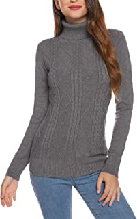 Turtleneck Sweaters for Women Casual Long Sleeve Soft Knit Pullover Tops Lightweight Jumper