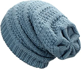 Dafunna Slouchy Beanie Hat Winter Soft Cable Knit Hat Oversized Unisex Stretch Baggy Skull Cap for Men and Women