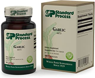 Standard Process Garlic (Organic Garlic) - Whole Food Antioxidant, Immune Support, Cholesterol, Lung Health, Liver Support...