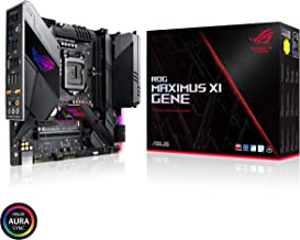 Asus ROG Maximus XI Gene Z390 Gaming Motherboard LGA1151 (Intel 8th and 9th Gen) mATX DDR4 HDMI M.2 USB 3.1 Gen2 Onboard 802.11AC WiFi