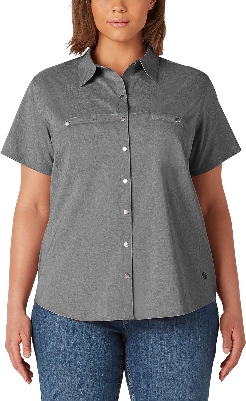 Dickies Women's Plus Size Short Sleeve Temp-iq Work Shirt
