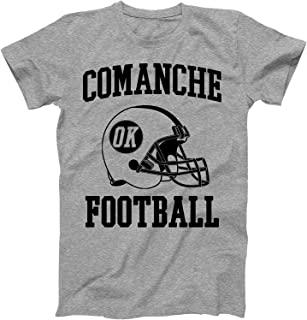 Vintage Football City Comanche Shirt for State Oklahoma with OK on Retro Helmet Style