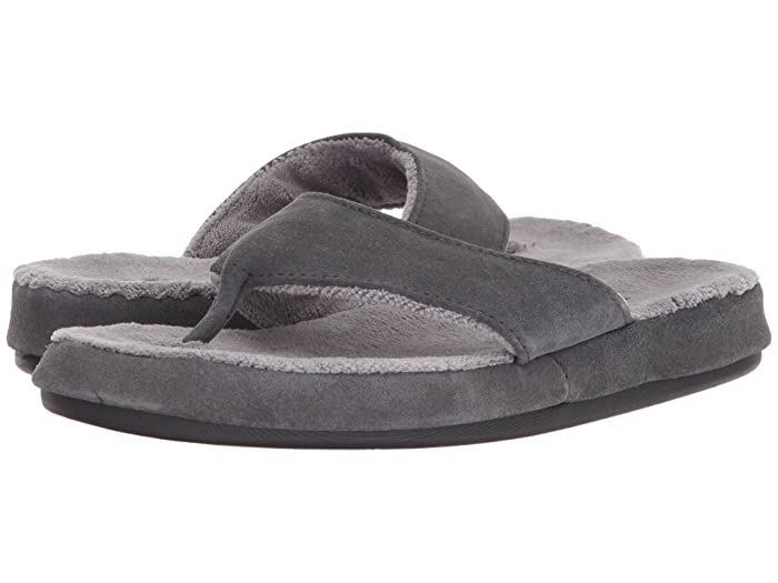 Acorn  Suede Spa Thong (Ash) Womens Sandals