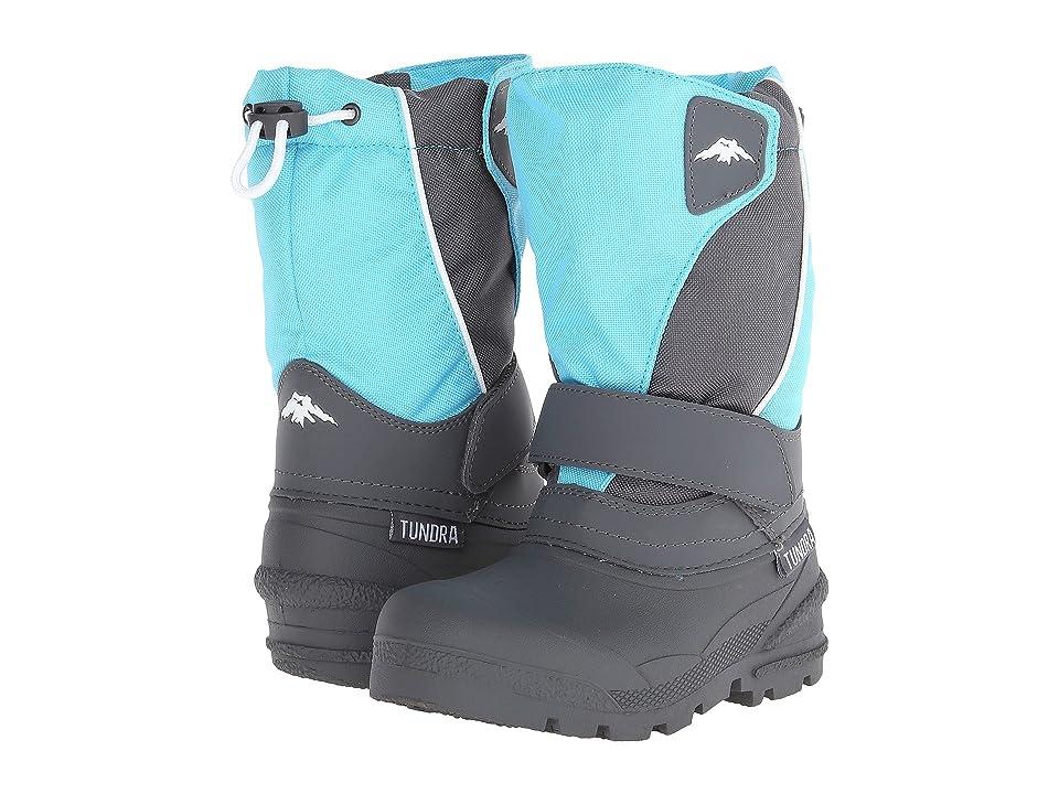 Tundra Boots Kids Quebec Medium (Toddler/Little Kid/Big Kid) (Teal/Grey) Kid