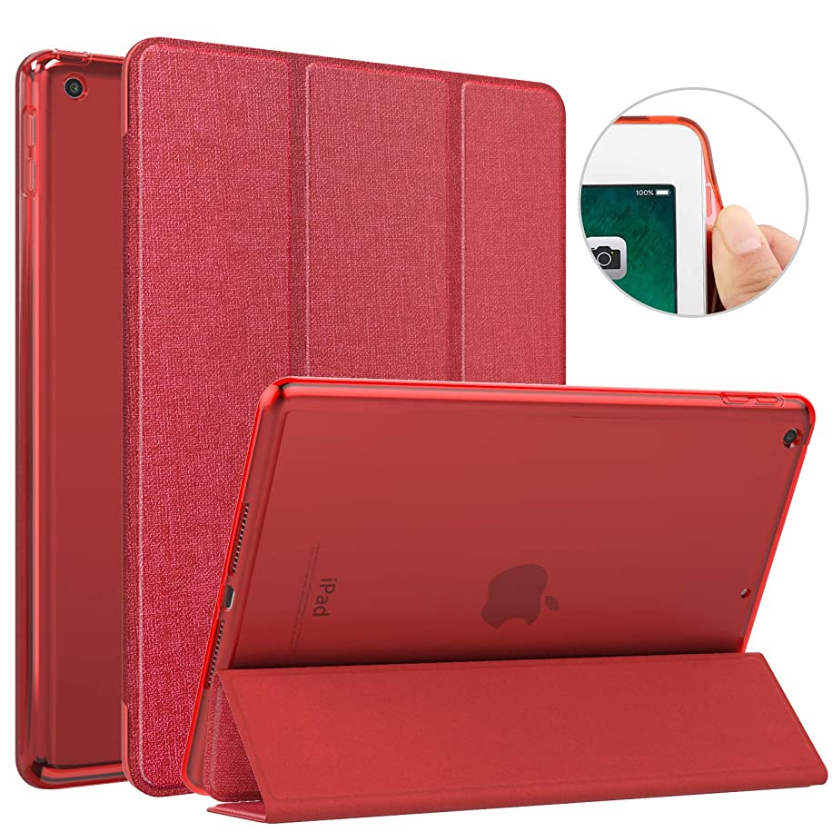 MoKo Case Fit 2018/2017 iPad 9.7 6th/5th Generation, Slim Lightweight Smart Shell Stand Cover with Auto Wake/Sleep, Translucent Frosted Back, Corner/Bumper Protector Fit Apple iPad 9.7