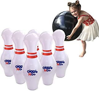 GIGGLE N GO Kids Bowling Set Indoor Games or Outdoor Games for Kids. Hilariously Fun Giant Yard Games for Kids and Adults....