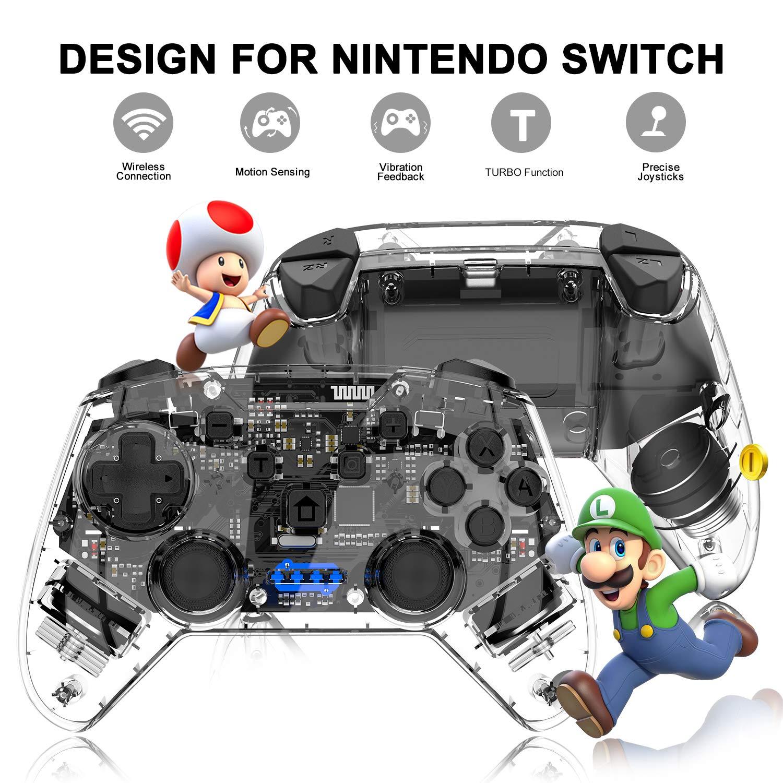 Mando inalámbrico para Nintendo Switch, Momen Switch Pro mando a distancia con doble amortiguador, eje giroscopio, mando de movimiento y mando compatible con Nintendo Switch: Amazon.es: Electrónica