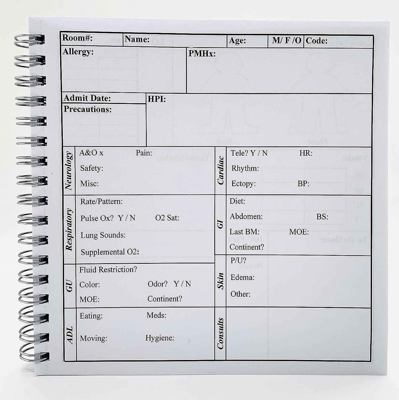 EZ Handoff (Compact Edition) - Nursing Report Made Simple! Nursing Report  Sheets / Nursing Report Sheets Notebook / Nursing Report Sheet / Nurse Regarding Nurse Report Template