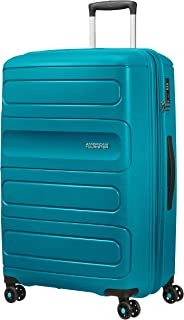 American Tourister 107528 Sunside Expandable Spinner Travel Suitcase, 77 cm Height, Teal, 77 Centimeters