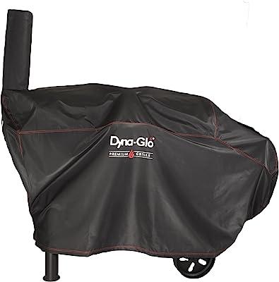 "Dyna-Glo DG962CBC Barrel Charcoal Grill Cover, Fits Size: 70.47"" W x 20.9"" D x 39.76"" H (178.99 x 53.08 x 100.99 cm), Black"