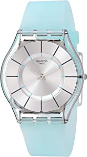 Swatch 1507 Tech-Mode Quartz Silicone Strap, Blue, 16 Casual Watch (Model: SFK397)