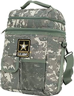 Insulated Lunch Bag Cooler 12 Can Shoulder Strap Dual Compartment Official U.s.Army Camo Cooler Support Our Troops!