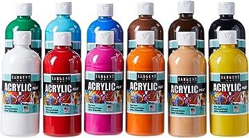 مجموعة ألوان أكريليك من سارجنت آرت (SARAD) 24-6101 473 مل، 12 لون، زجاجات، قطعة