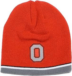Ohio State Buckeyes J. America Red/ Grey Reversible Knit Hat