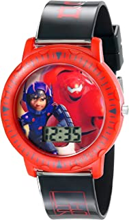 Disney Kids' BHS3380 Big Hero 6 Watch with Black Plastic Band
