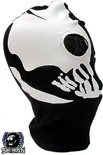 MEDELIN 2 Hole Wool Zorro Ninja Fancy Dress Costume 1 Size Senior Balaclava Ghost Skull Face Mask Bike Motorcycle Helmet Hood Ski Sport Neck Face Mask Halloween Horror