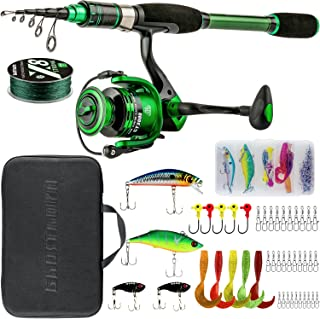 Ghosthorn Telescopic Fishing Rod and Reel Combos