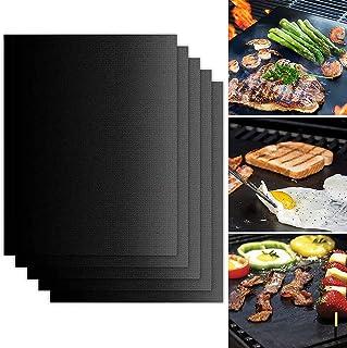 N\C Tapis de Barbecue, Ensemble de 5 Tapis de Gril, Tapis de Gril Antiadhésif, Gril et Tapis de Cuisson Réutilisables, Par...