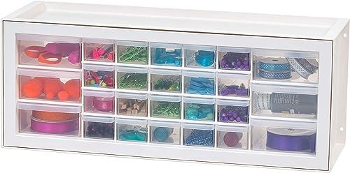 IRIS USA Drawer Small Parts Organizer-Sewing and Craft Supplies Storage Cabinet, 26, White