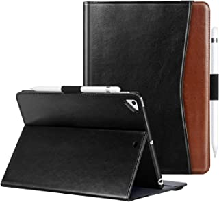 BENTOBEN Case for iPad 9.7 Inch 5th/6th Generation 2018 2017/ iPad Air 2 /iPad Air, Premium PU Leather Folding Folio Smart Cover with Auto Wake/Sleep Pencil Holder Multiple Angles Stand, Black Brown