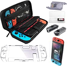 Carrying Case for Nintendo Switch with 2 Pack Screen Protector, 2 Pack Game Card Holder,Protective Hard Portable Travel Ca...